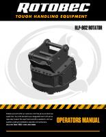 Rotobec RLP-902 Rotator Manual