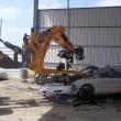 Salvage Yard Scorpion Engine Puller - SAS Forks