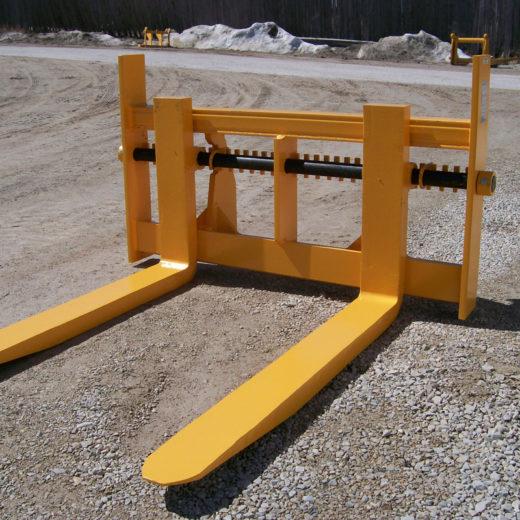 Forklift Adjustable Forks - SAS Forks