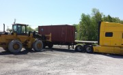 "Container Forks. SAS Forks. 96"" wide carriage, 96"" long forks, Wheel Loader Forks"